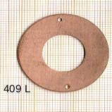 Estampe en cuivre vrac   DONUTZ 35MM 2 trous