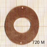 Estampe en cuivre vrac  DONUTZ OVALE 41X31MM 2 trous