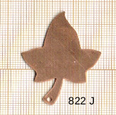 Estampe en cuivre vrac   FEUILLE 42X31MM