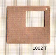 Estampe en cuivre vrac   DONUTZ CARRE 55X55MM