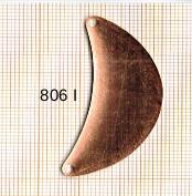 Estampe en cuivre vrac   DEMI-LUNES 17X46MM