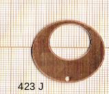Estampe en cuivre vrac  pendentif ROND 1 trou  .29MM