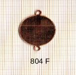 Estampe en cuivre vrac   ROND 20MM 2 trous