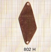 Estampe en cuivre vrac   LOSANGE 2 trous .47X16MM