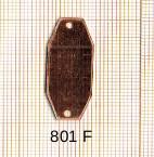Estampe en cuivre vrac   OCTOGONE 2 trous .30X12MM