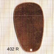 Estampe en cuivre vrac   TRAPEZE 55X29MM