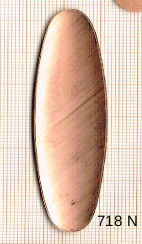 Estampe en cuivre vrac   OVALE 70X20MM