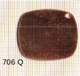 Estampe en cuivre vrac   CARRE ARRONDI 33X33MM