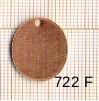 Estampe en cuivre vrac   OVALE 20X15MM