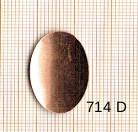 Estampe en cuivre vrac   OVALE 26X16MM