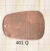 Estampe en cuivre vrac   RECT.ARRONDI 37X28MM