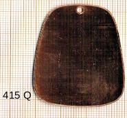 Estampe en cuivre vrac   TRAPEZE 46X33MM
