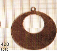 Estampe en cuivre vrac   DONUTZ ROND 40MM 1 trou