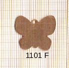 Estampe en cuivre vrac   PAPILLON 22X22MM