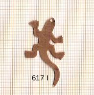 Estampe en cuivre vrac   LEZARD 43X20MM
