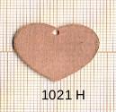 Estampe en cuivre vrac   COEUR 23X27MM