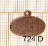 Estampe en cuivre vrac   OVALE 19X14