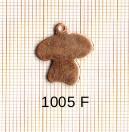 Estampe en cuivre vrac   CHAMPIGNON 17X16MM