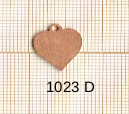 Estampe en cuivre vrac   COEUR 16X15MM