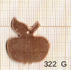 Estampe en cuivre vrac   POMME 30X23MM