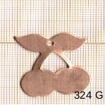 Estampe en cuivre vrac  pendentif CERISE 29X29MM