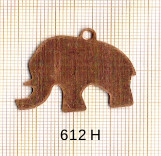Estampe en cuivre vrac   ELEPHANT 35X25MM