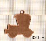 Estampe en cuivre vrac   AUTO ANCETRE 24X30MM
