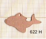 Estampe en cuivre vrac   POISSON 35X22MM