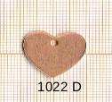 Estampe en cuivre vrac   COEUR 17X19MM