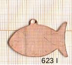 Estampe en cuivre vrac   POISSON 30X22MM