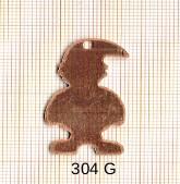 Estampe en cuivre vrac   NAIN 34X21MM