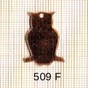 Estampe en cuivre vrac   HIBOU 25X16MM