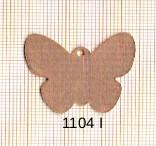 Estampe en cuivre vrac   PAPILLON 26X30MM