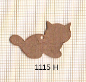 Estampe en cuivre vrac   CHAT 33X23CM
