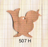 Estampe en cuivre vrac   OISEAU 30X32MM