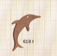 Estampe en cuivre vrac   DAUPHIN 45X17MM