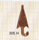 Estampe en cuivre vrac   PARAPLUIE 14X42MM