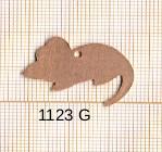 Estampe en cuivre vrac   SOURIS 15X27MM