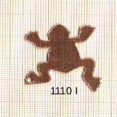 Estampe en cuivre vrac   GRENOUILLE 35X28MM