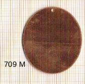 Estampe en cuivre vrac   OVALE 41X31MM