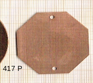 Estampe en cuivre vrac   OCTOGONE 40MM 2 trous
