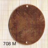 Estampe en cuivre vrac   OVALE 41X31MM 2 trous