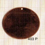 Estampe en cuivre vrac   ROND 42MM 1 trou