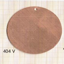 Estampe en cuivre vrac   ROND 51MM 1 trou