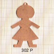 Estampe en cuivre vrac   FILLE 50X27MM
