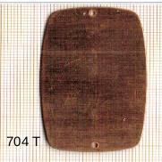 Estampe en cuivre vrac   RECT.ARRONDI 51X32MM