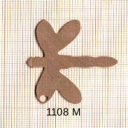 Estampe en cuivre vrac  pendentif LIBELLULE