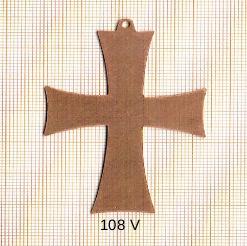 Estampe en cuivre vrac   CROIX 45X62MM