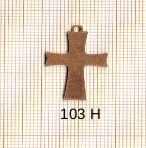 Estampe en cuivre vrac   CROIX 17X25MM