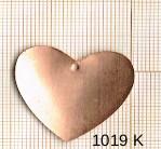 Estampe en cuivre vrac  pendentif COEUR 36X39MM